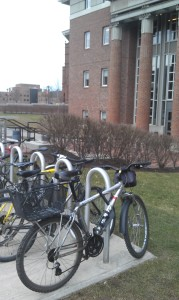 Bikes on first day of spring class