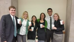 My nonprofit management group celebrating the success of our Mobile Market business plan presentation.